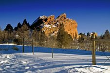 Free Colorado WInter Landscape In Snow Royalty Free Stock Image - 4824056