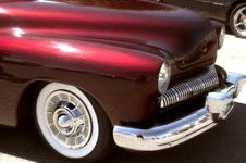 Free Red Custom 50s Car Royalty Free Stock Photography - 4824117