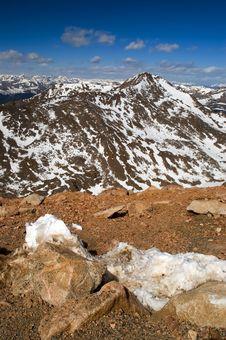 Free Rocky Mountain Peaks With Snow Stock Photos - 4824123