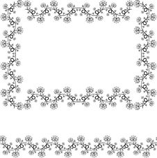 Free Floral Design Frame And Border Royalty Free Stock Image - 4824516