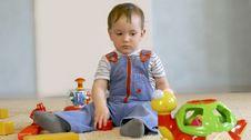 Free Baby Boy With Toys Stock Photos - 4824913