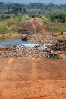 Free Dirt Track Crossing A Stream Royalty Free Stock Image - 4824916