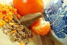 Free Chocolate & Orange Stock Image - 4825211