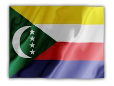 Free Comoros Fluttering Stock Image - 4825331