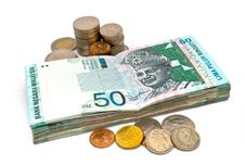 Coins And Banknote Stock Photo