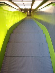 Free Green Escalator Stock Images - 4825674