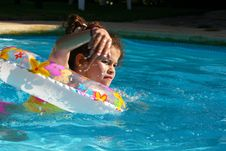 Free Swimming Girl Royalty Free Stock Photography - 4826637