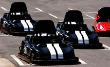 Black Go Karts Royalty Free Stock Photo