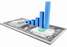 Free Graph On Dollar Note Stock Photos - 4828233