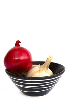 Free Onion And Garlic Royalty Free Stock Images - 4828949