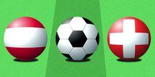 Free Football Austria Switzerland Royalty Free Stock Image - 4829026