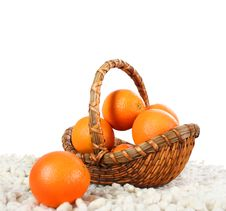 Free Basket With Oranges Royalty Free Stock Image - 4829186