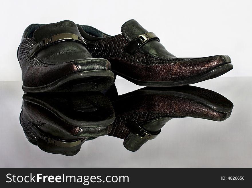 Man Leather Shoe