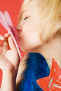 Free Girl Kissing Butterfly Stock Images - 4832414