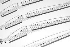 Free Hard Violin Music Sheet Stock Images - 4830834