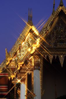 Shining Golden Roofs Royalty Free Stock Photography
