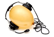 Free Ballon With Headphone Stock Photography - 4831022