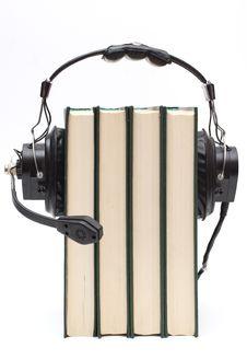 Free Headphones And Books Stock Photos - 4831373