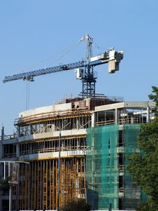 Free Lifting Crane On Building Site Stock Photo - 4831480