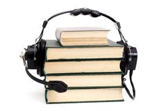 Free Headphones And Books Royalty Free Stock Photography - 4831877