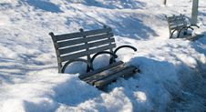 Free Park Benches Royalty Free Stock Photography - 4832267