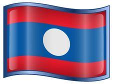 Free Laos Flag Icon Royalty Free Stock Photography - 4832597