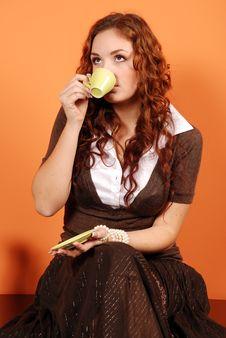 Free Woman Drinking Coffee Stock Photo - 4833430