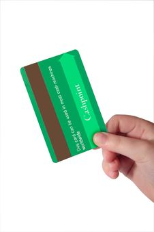Free Fake Green Credit Card 3 Royalty Free Stock Image - 4834146