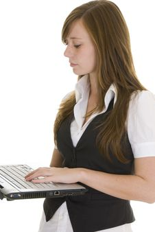 Free Young Business Lady Laptop Stock Photo - 4834150