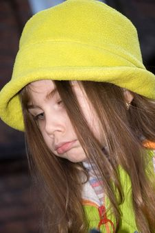 Free Little Girl Pouting Her Lips Stock Photos - 4834903