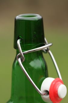 Bottle And Wire Cap Royalty Free Stock Photo