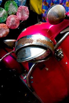Free Old Italian Motorbike In Bangkok. Royalty Free Stock Image - 4835406