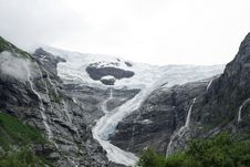 Free Glacier In The Mountain Of Norway Stock Photo - 4835520