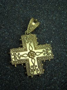 Golden Cross Jewel Stock Images