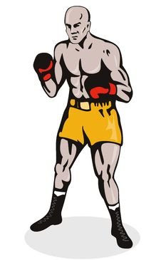 Boxer In Fighting Stance Royalty Free Stock Photography