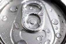 Free Macro Of A Can Of Soda Royalty Free Stock Photos - 4836438