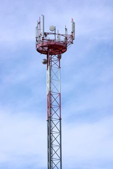 Modern Antenna Of Communication . Royalty Free Stock Image