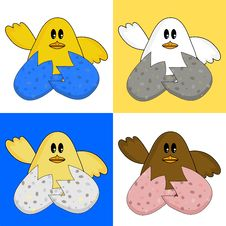 Free Cute Easter Chicks Royalty Free Stock Images - 4836759