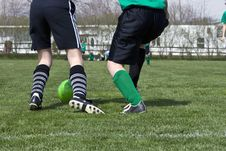 Free Soccer Foot Action Stock Photo - 4836950
