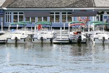 Small Boat Harbor Stock Images
