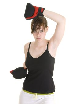 Free Teenage Girl Doing Sport Royalty Free Stock Images - 4837189