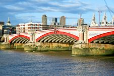 Blackfriars Bridge Royalty Free Stock Photo