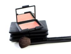 Free Blush Makeup With Brush Royalty Free Stock Image - 4837746
