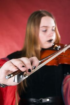 Free The Gothic Violinist. Stock Photography - 4838012