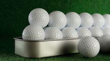 Golfballs Stock Photos