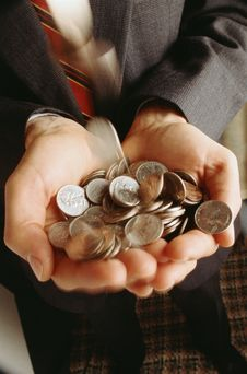 Free Man With Coins Stock Image - 4838711