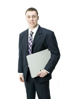 Young Business Exective With File Royalty Free Stock Photos