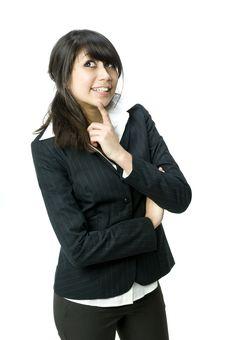 Free Cute Businesswoman Royalty Free Stock Photos - 4839098