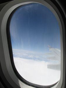 Free Airplane Window Royalty Free Stock Image - 4839816