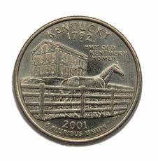 Free US Kentucky Quarter Dollar Royalty Free Stock Photo - 4839825